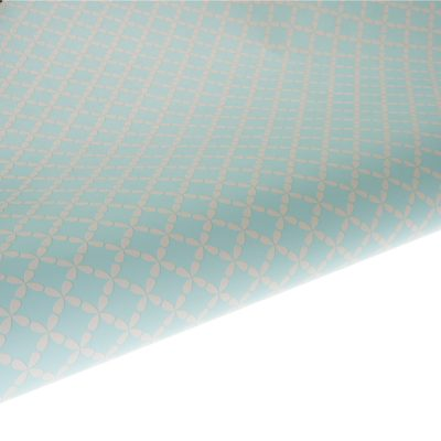 Table Runner / Gift Wrap ~ Clover Aquamarine