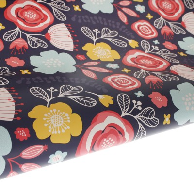 Table Runner / Gift Wrap ~ Full Bloom Navy