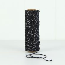 Bakers Twine ~ Black Silver