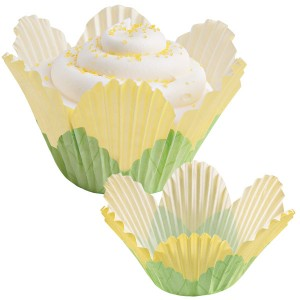 Shaped Baking Cases ~ Yellow Petal