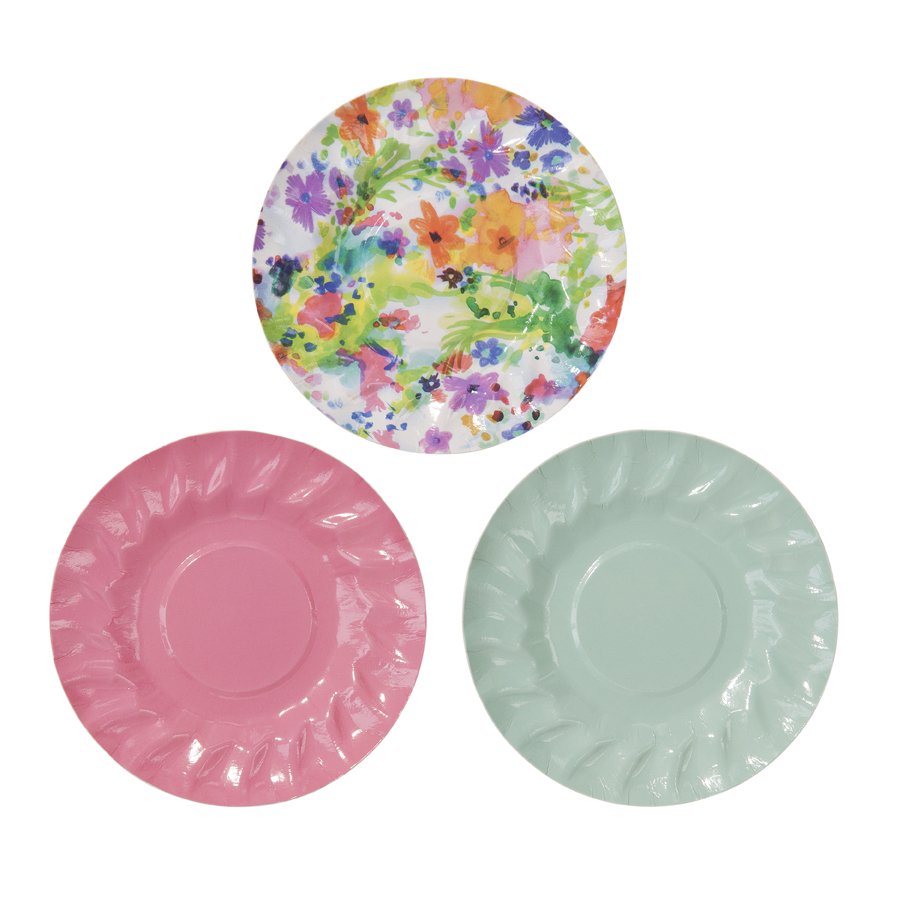 Canape plates floral fiesta auckland nz miss mouse for What is a canape plate