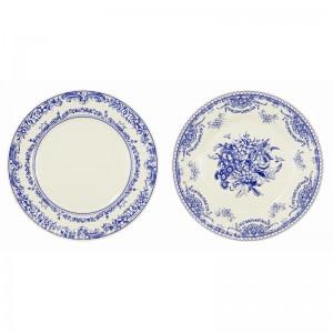 Paper Plates 27cm ~ Porcelain Blue