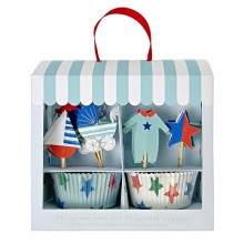 Cupcake Kit ~ Baby Shop Blue