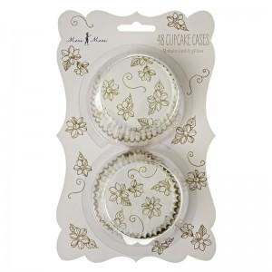 Cupcake Cases ~ Elegant Gold Floral