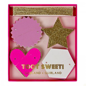Mini Garland ~ Toot Sweet Pink