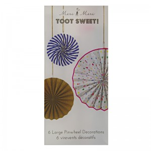 Toot Sweet Glitter Pinwheel Decorations