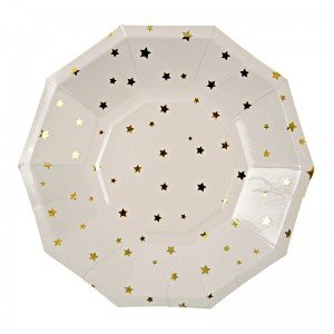 Paper Plates ~ Toot Sweet Gold Stars