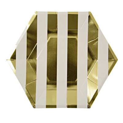 Paper Plates ~ Toot Sweet Gold Stripe