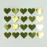 Stickers ~ Gold Hearts
