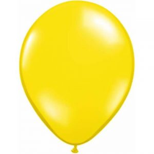 "Citrine Yellow Mini Balloons (5"") by Qualatex."