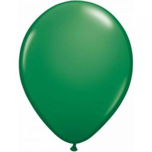 "Green Mini Balloons by Qualatex are a small 5"" size."