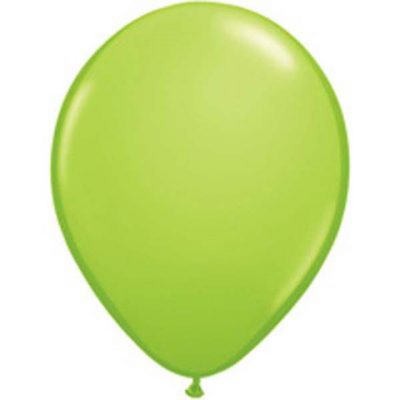 "Lime Green Mini Balloons by Qualatex are a small 5"" in size."