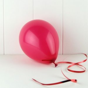 Mini Balloons in bright pink.