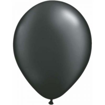 """Pearl Onyx Black Mini Balloons are a small 5"""" size."""