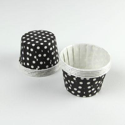 Serving Cups ~ Black Polkadot