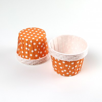 Serving Cups ~ Orange Polkadot