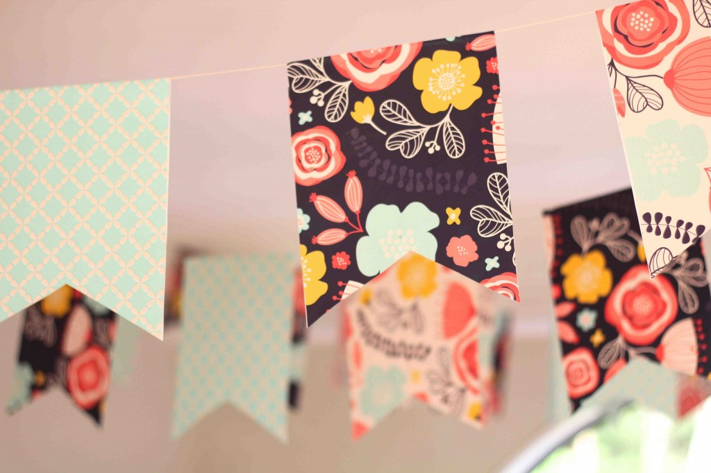 DIY Party Supplies Pennant Bunting Complete