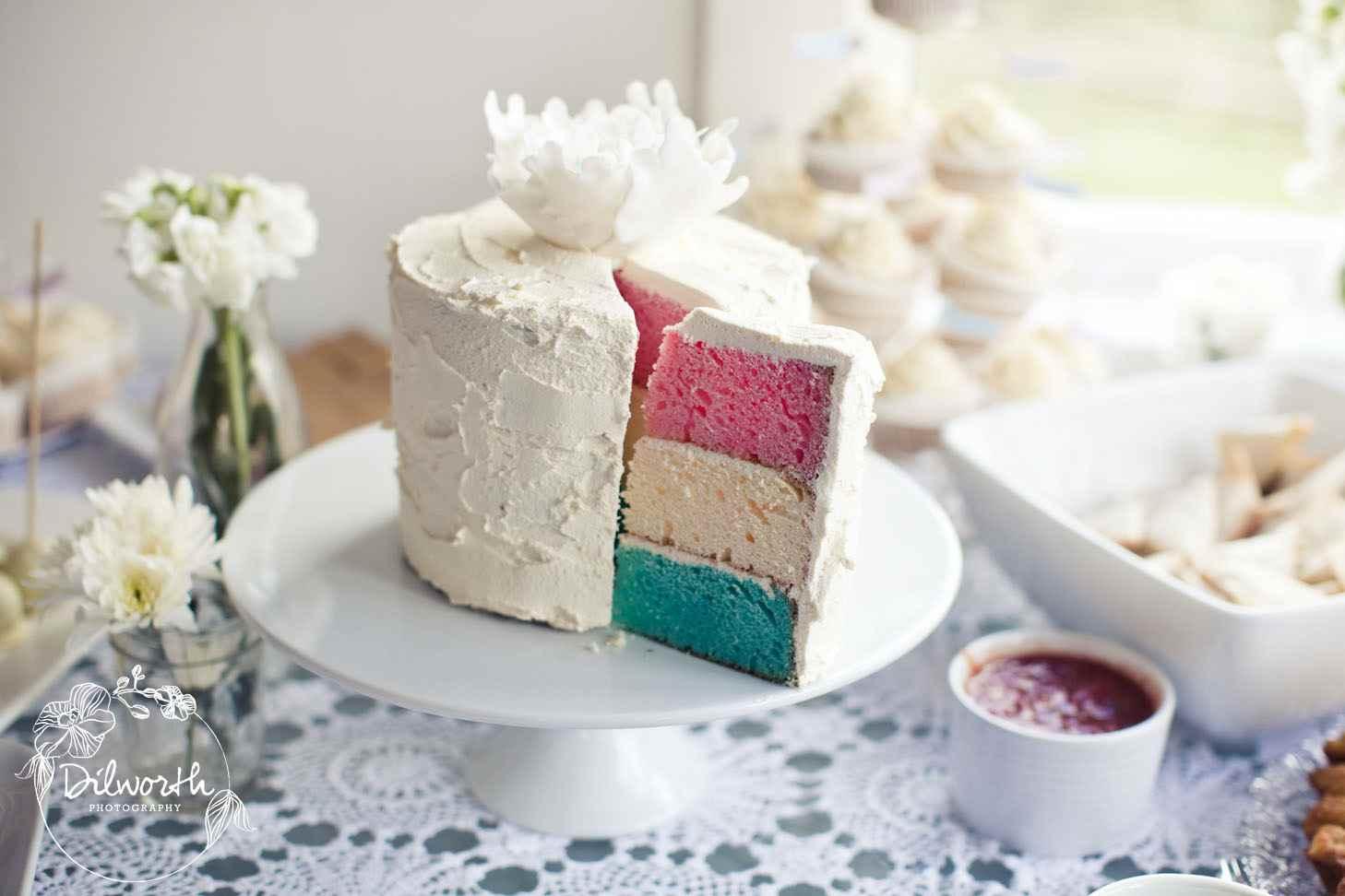 Baby Shower Cake Pink Blue
