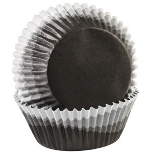 Baking Cups ~ Ombre Black