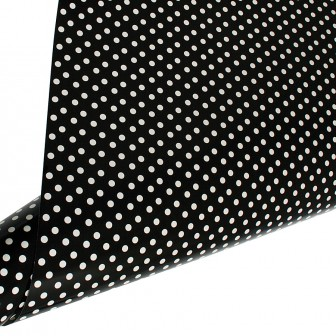 Table Runner / Gift Wrap ~ Black Creme Polka Dot