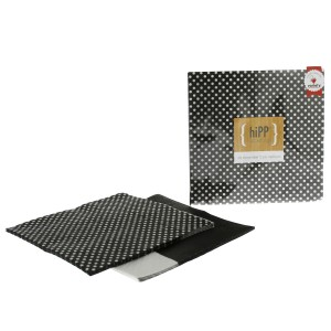 Paper Napkins ~ Black Polka Dot & Splice