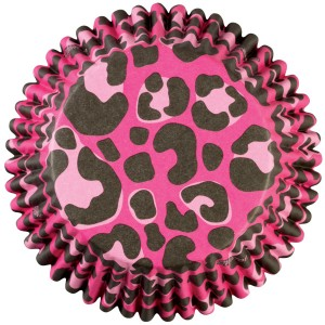 Baking Cups ~ Pink Leopard