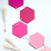 Hexagon Honeycomb Garland ~ Pinks