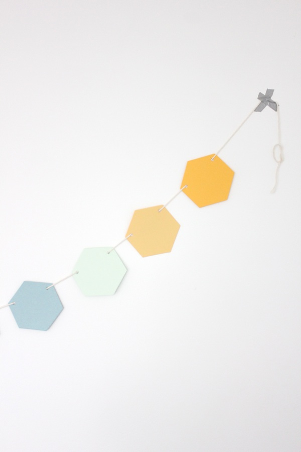 Hexagon Honeycomb Garland ~ Poolside
