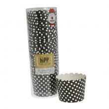 Baking Cups ~ Black Polkadot