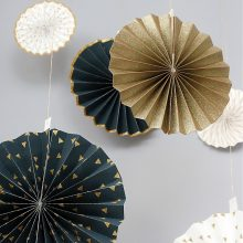 Paper Fans & Pinwheel Decorations