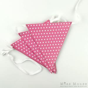 Polkadot Bunting Flags ~ Pink