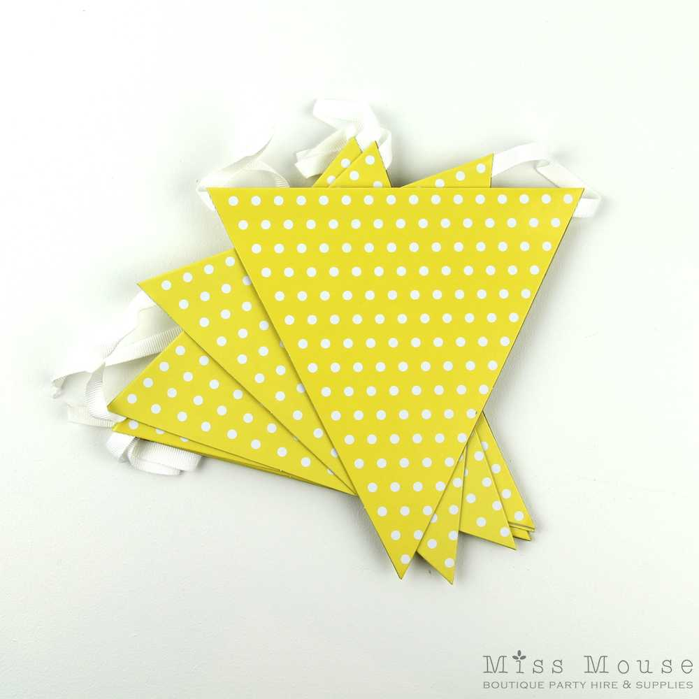 Polkadot Bunting Flags ~ Yellow