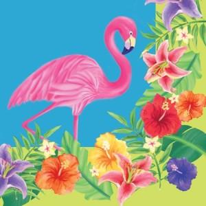 Paper Napkins ~ Hibiscus Heat Flamingo