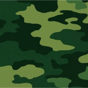 Use the Camouflage paper napkins for your army or hunting party!