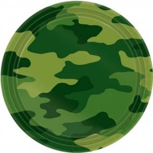 The Camouflage Paper Plates are perfect for your army, hunting or combat inspired party!