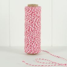 Bakers Twine ~ Raspberry Stripe 90m