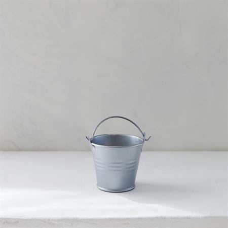 Mini Tin Pail ~ Silver