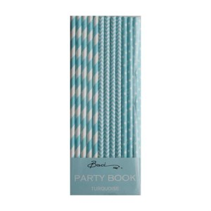 Paper Straws ~ Turquoise