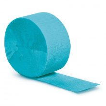 Bermuda Blue Crepe Paper Streamer NZ