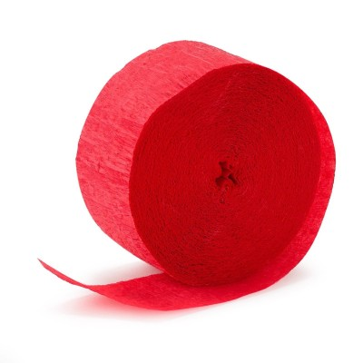 Crepe Paper Streamer ~ Red