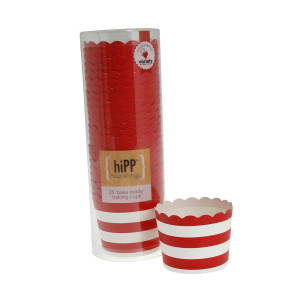 Baking Cups ~ Red Stripe