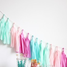 Tassel Garland ~ Candy Shoppe