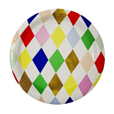 Paper Plates ~ Toot Sweet Harlequin