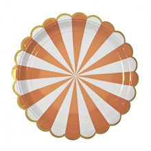 Paper Plates ~ Toot Sweet Orange