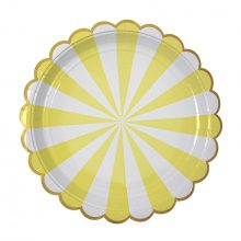 Paper Plates ~ Toot Sweet Yellow