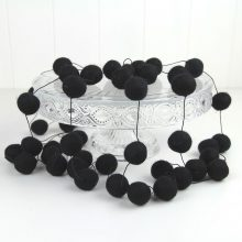 Felt Ball Garland ~ Black