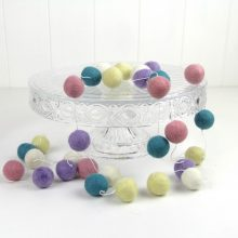 Felt Ball Garland ~ Pastels