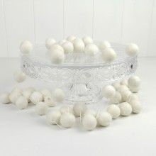 Felt Ball Garland ~ White