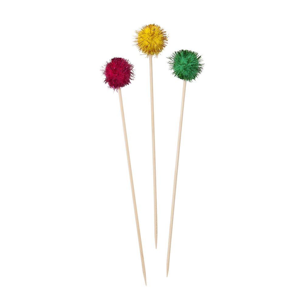Floral fiesta pom pom picks mexican themed party nz for Some canape picks