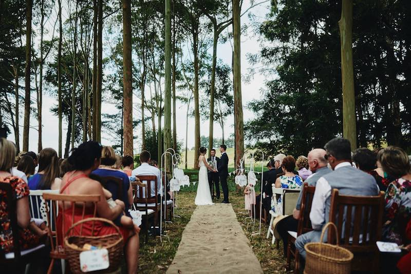 Outside Ceremony Rustic Wedding Ideas